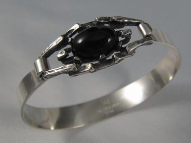 Vintage Australian Sterling Silver Designer Per sprung bracelet