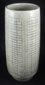 Vintage Palshus Denmark 28.5cm tall Sage Green Chamotte vase