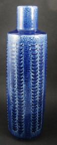 Vintage Palshus Denmark 29cm tall Cobalt Blue Chamotte vase