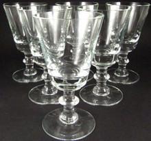 6 Vintage Holmegaard Wellington port wine glasses
