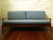 Vintage Australian Hutchens Mid-Century Blackwood surfd board back day bed / sofa