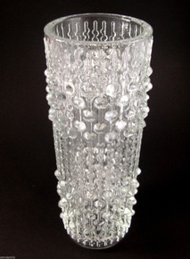 Vintage Mid Century Sklo Union Art Glass Candlewax Vase.