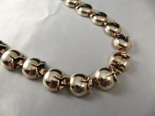 Vintage Napier Sterling Silver Bell Flower Necklace Rose Gold Wash
