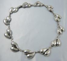 Vintage Sterling Silver Danecraft Sycamore link necklace