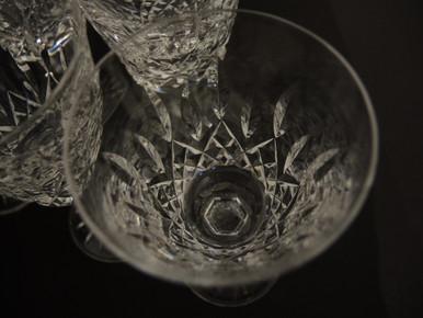 Six Vintage Waterford Crystal Lismore White Wine Glasses
