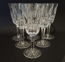 6 Vintage Waterford Crystal Lismore Port Wine Sweet Sticky Glasses