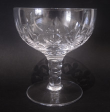 Six Vintage Stuart Crystal Carlingford Champagne Saucers Glasses