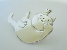 Australian Designer Christine Pyman sterling Silver Cat Brooch