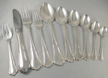 Vintage 70pce Danish 6 Person Silver Plate Cutlery set Anne Marie by Frigast