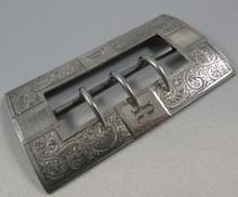Antique Australian Sterling Silver Belt Buckle c 1860