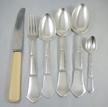 Vintage 36pce Danish 6 Person Silver Plate Cutlery set Louise