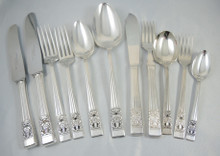 Vintage 67 pce Hampton Court Coronation Oneida Community Silver Plate Cutlery Set 6 Person