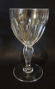 6 Vintage cut crystal Val St Lambert by Holmegaard Poul red wine glasses