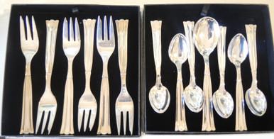 Vintage Victoria Regent silver plate cake fork cutlery flatware set