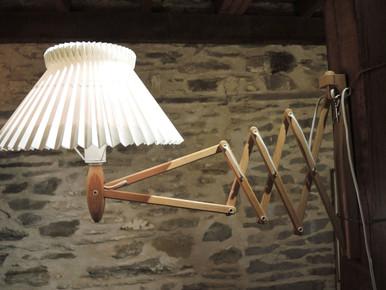 Vintage Le Klint Sax Concertina Accordion 234 Wall Sconce Light