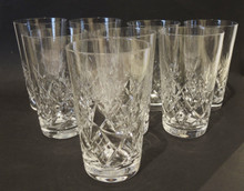 8 Vintage cut crystal Val St Lambert by Holmegaard Annette Long Drink glasses