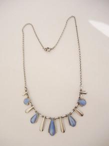 Vintage Danish Volmer Bahner sterling silver enamel necklace