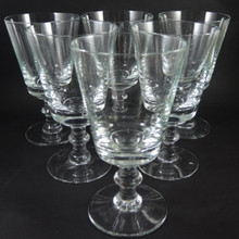 6 Vintage Holmegaard Wellington large 16cm red wine or beer glasses 1978