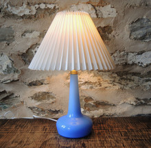 Vintage Le Klint 311 Table Lamp in Pale Blue with Danish pleated shade