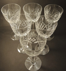 6 Vintage Holmegaard Else Red Wine glasses 1923
