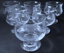 6 Vintage Holmegaard Tivoli Cocktail glasses Per Lutkin 1968