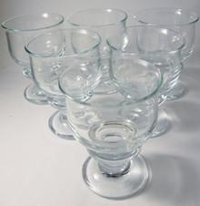6 Vintage Holmegaard Tivoli red wine glasses Per Lutkin 1968