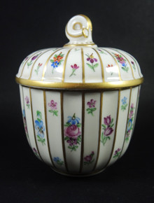 Vintage Royal Copenhagen hand painted Henriette lidded jam pot
