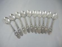 10 Vintage Swedish Silver Plate Mocha or Espresso Spoons