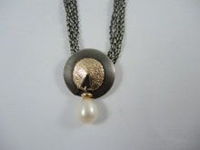 Vintage Sterling Silver Nils Erik From Pearl & Gold necklace