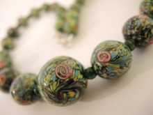 Vintage Large Graduated Bead Wedding Cake Bead Necklace