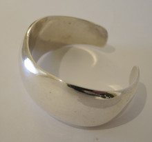 Vintage Sterling Silver Wave Cuff Bangle