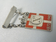 1870-1940 Georg Jensen Sterling Silver King Christian X Kingmark Suspended Pin Arno Malinowsky
