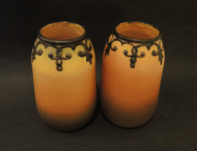 Art Deco Vintage Danish Art Pottery Ipsens Pair of Vases