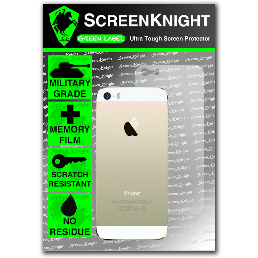 ScreenKnight Apple iPhone 5S Back Invisible Shield