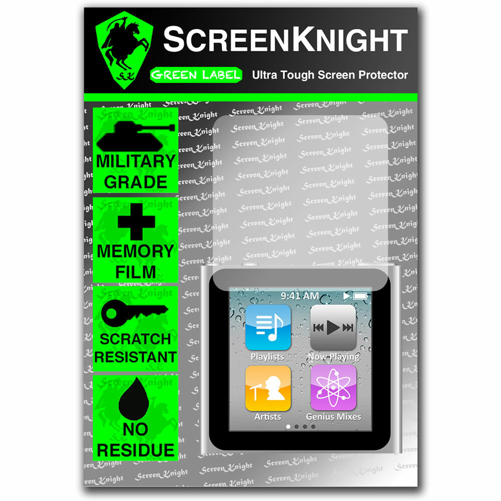 ScreenKnight Apple iPod Nano 6th Generation Front Invisible Shield