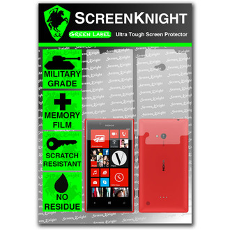 ScreenKnight Nokia Lumia 720 Full Body Invisible Shield