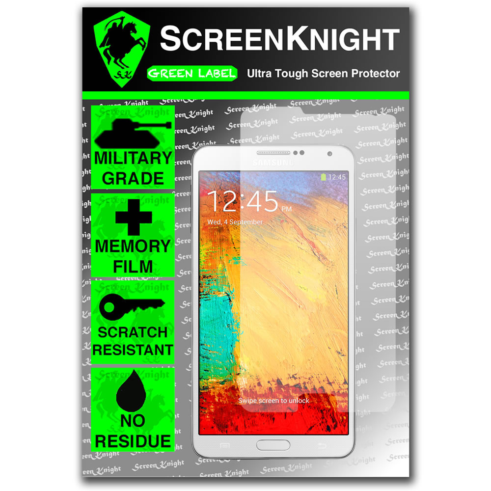 ScreenKnight Samsung Galaxy Note 3 Front Invisible Shield