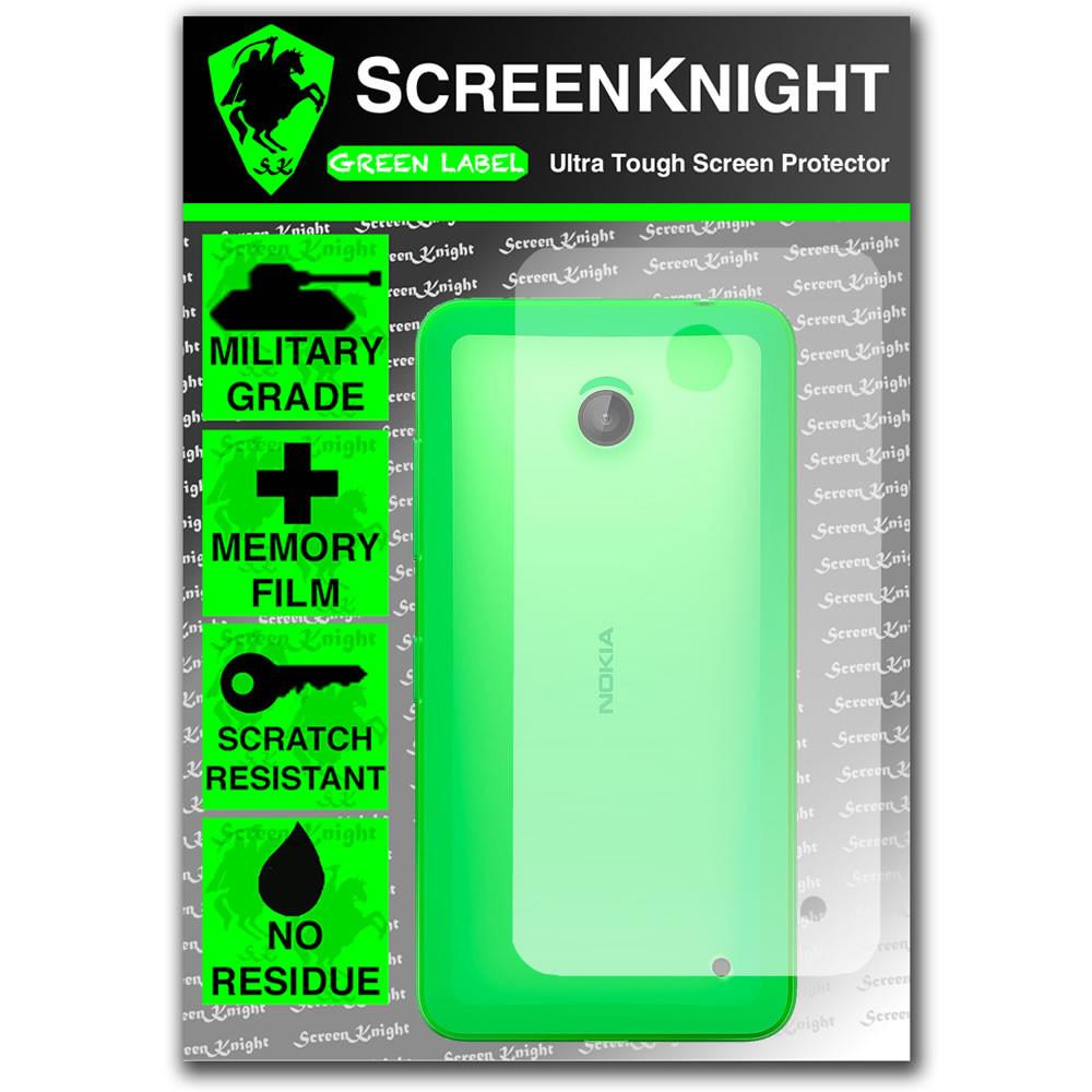 ScreenKnight Nokia Lumia 635 Back Invisible Shield