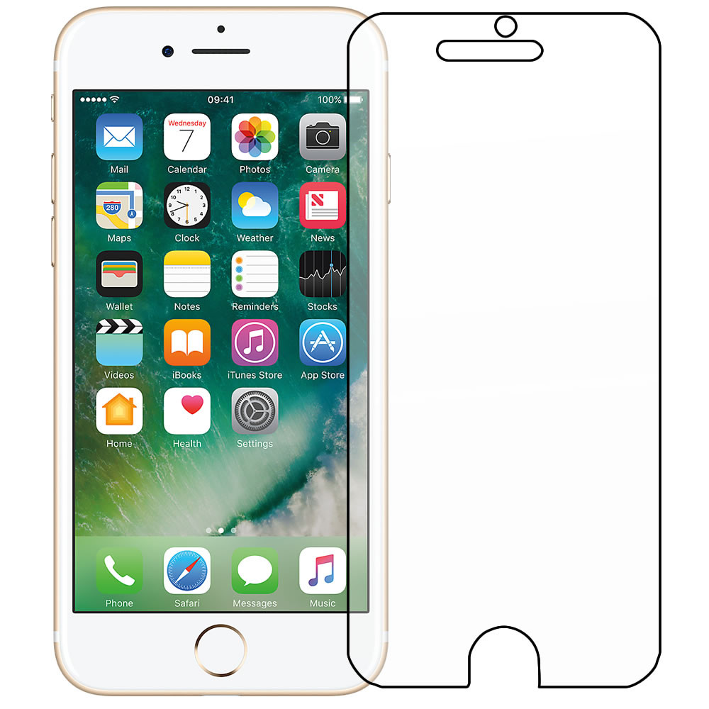 "Apple iPhone 7 / 4.7"" Front Screen Protector - Military Shield"