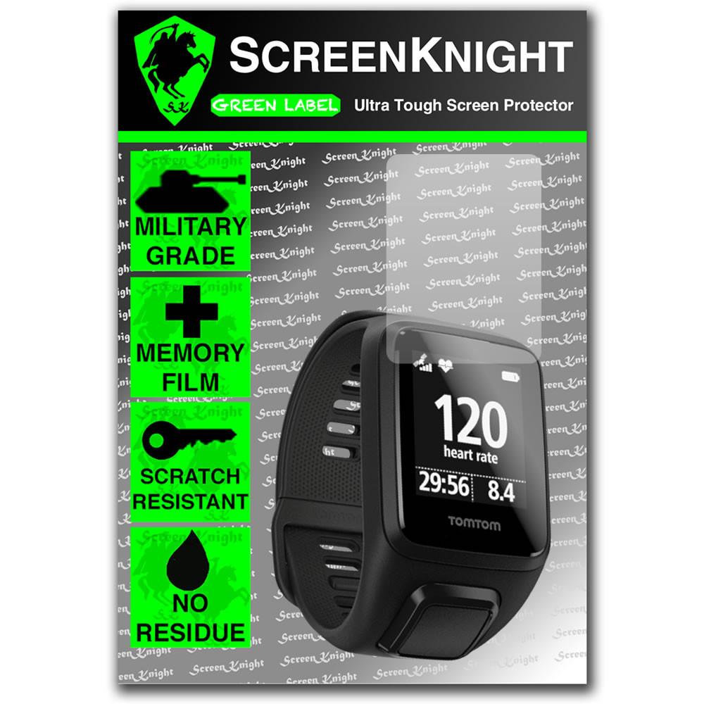 ScreenKnight/® TomTom Spark 3 Screen Protector Tom Tom Spark iii Military shield