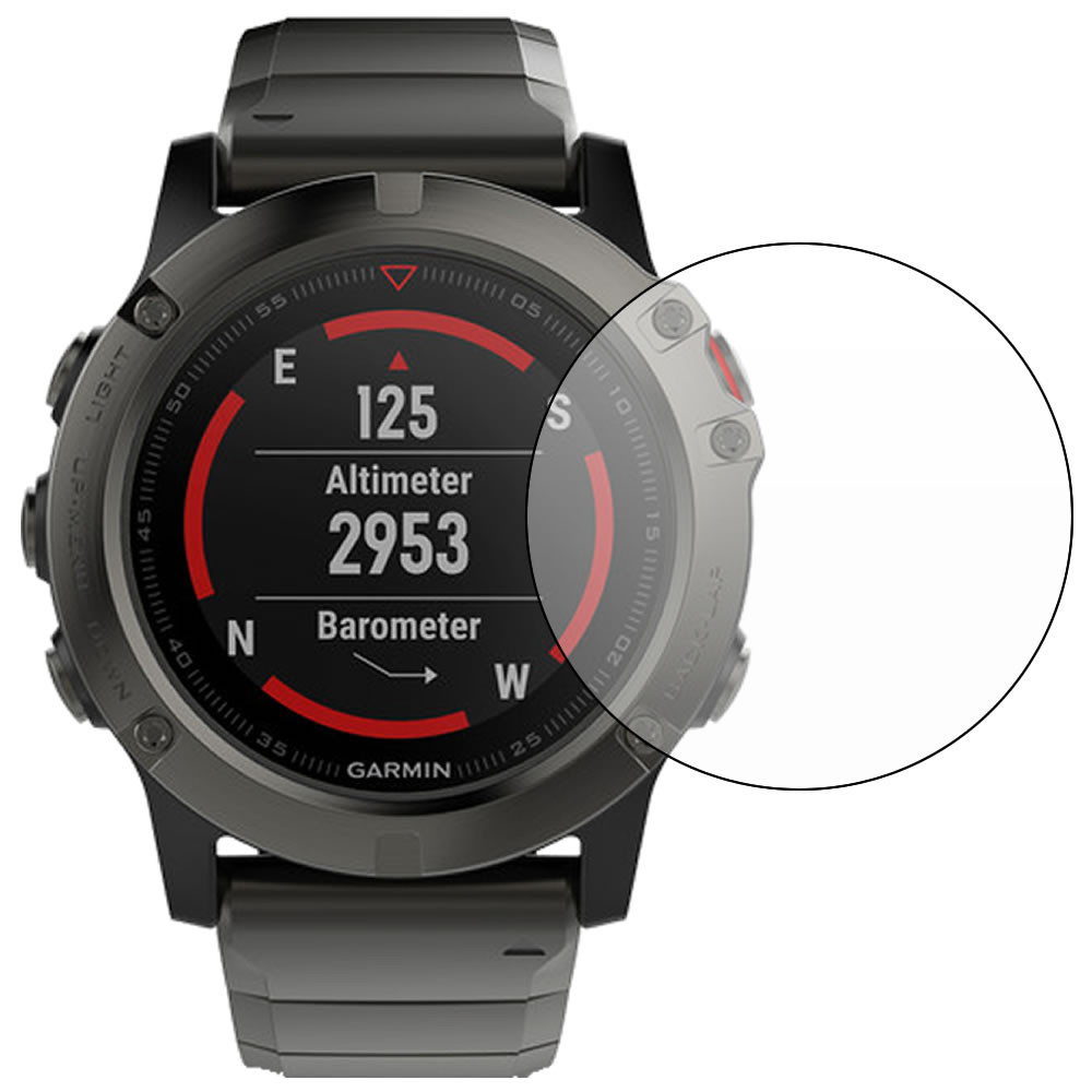 Garmin Fenix 5X Screen Protector outline