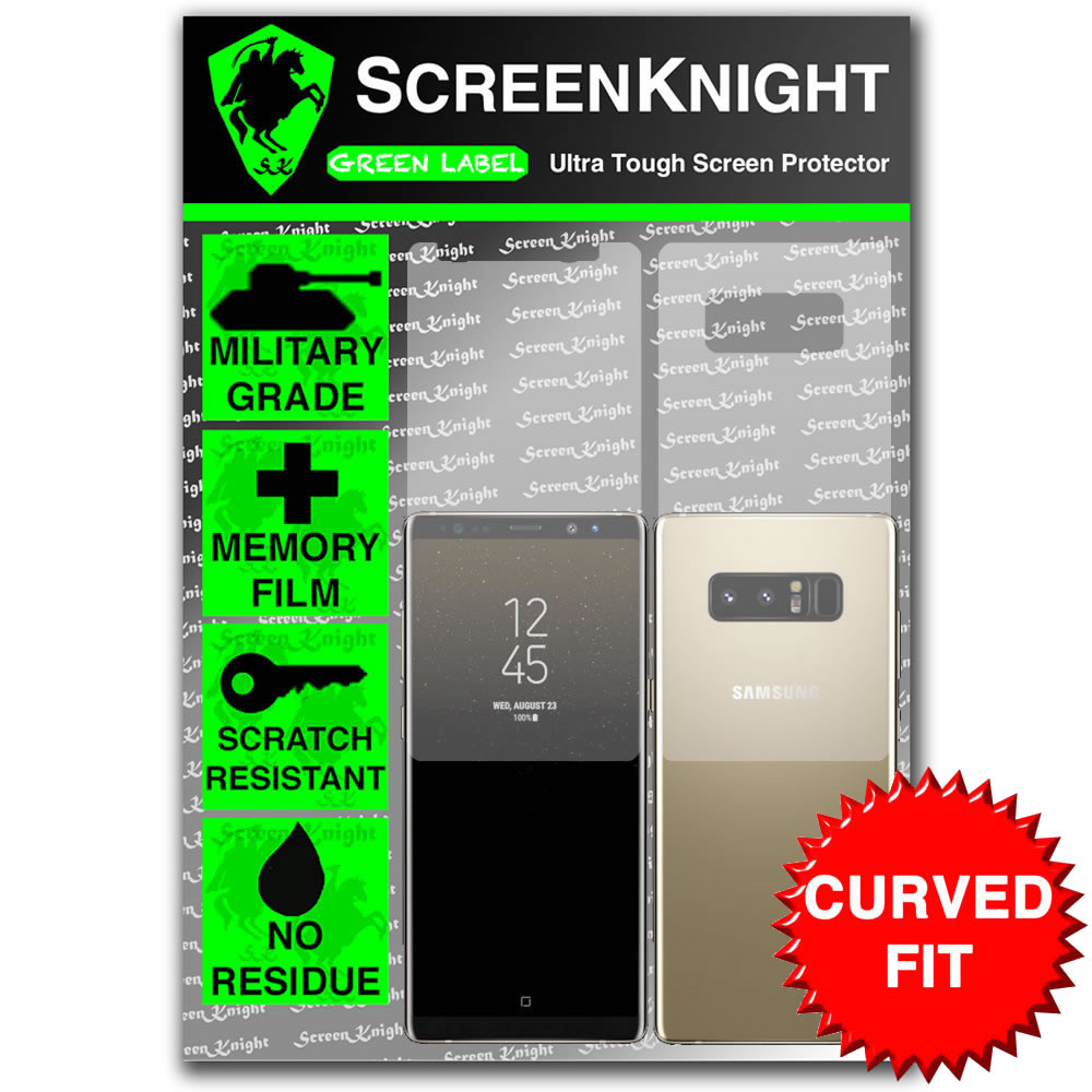 Galaxy Note 8 Screen Protector - Military Shield - Full body - curved sticker