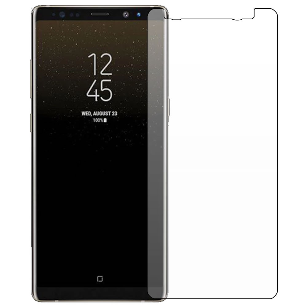 Galaxy Note 8 Screen Protector - Military Shield - Front outline