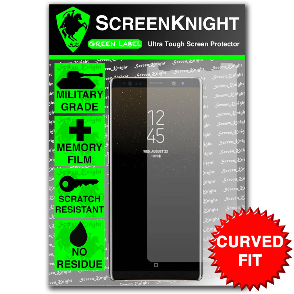 Galaxy Note 8 Screen Protector - Military Shield - Front - curved sticker