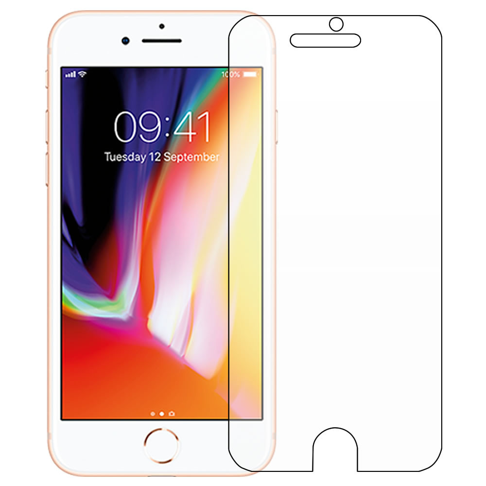 iPhone 8 Screen Protector - Military Shield - Front