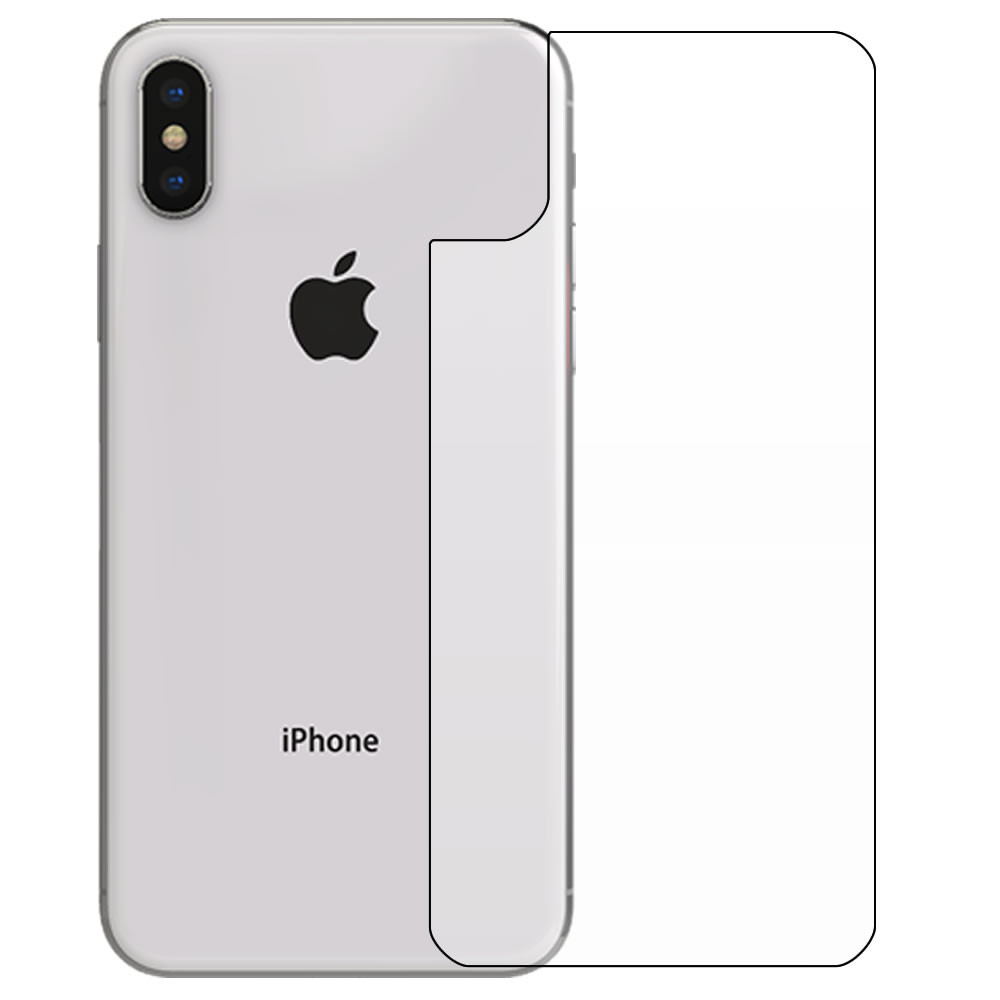 iPhone X Screen Protector - Military Shield - Back