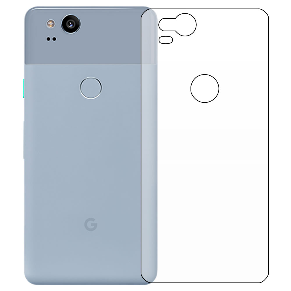 Google Pixel 2 Screen Protector - Military Shield - Back