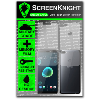 HTC Desire 12 Plus Screen Protector - Military Shield Full Body