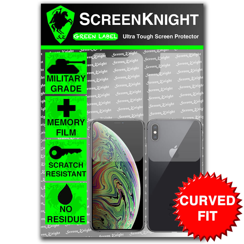 iPhone XS MAX Screen Protector - Military Shield - Full body