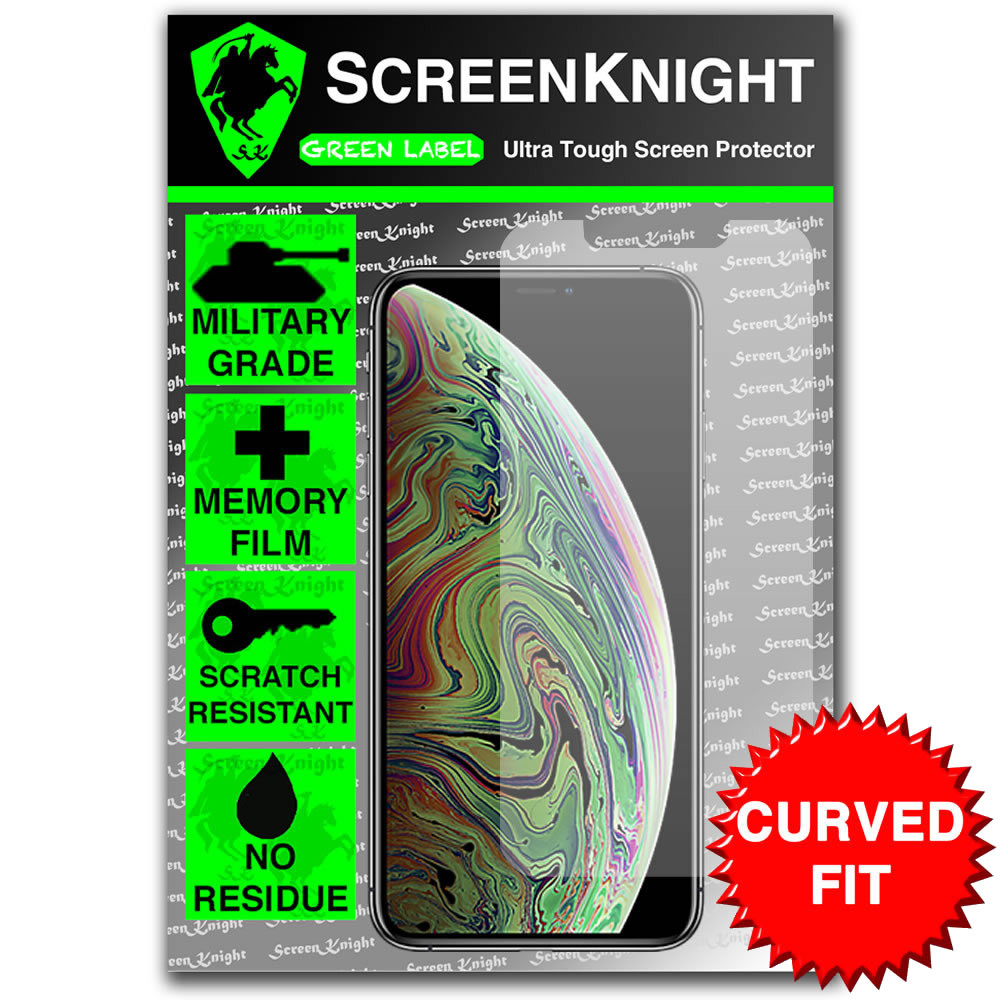 iPhone XS MAX Screen Protector - Military Shield - front